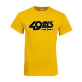 Gold T Shirt-49ers Long Beach