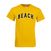 Gold T Shirt-Arched Beach