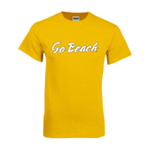 Gold T Shirt-Go Beach