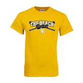 Gold T Shirt-Baseball Crossed Bats Design