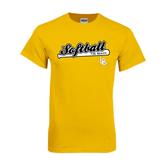 Gold T Shirt-Softball Bat Design