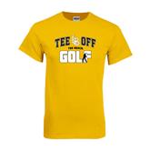 Gold T Shirt-Golf Golfer Design