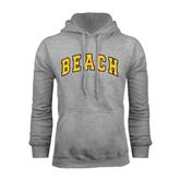 Grey Fleece Hoodie-Arched Beach