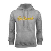 Grey Fleece Hoodie-Go Beach