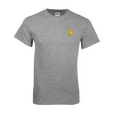 Grey T Shirt-Interlocking LB