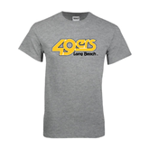 Grey T Shirt-49ers Long Beach
