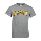 Grey T Shirt-Arched Beach