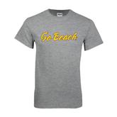 Grey T Shirt-Go Beach