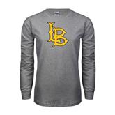 Grey Long Sleeve TShirt-Interlocking LB