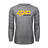 Grey Long Sleeve TShirt-49ers Long Beach