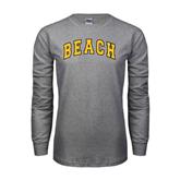 Grey Long Sleeve TShirt-Arched Beach
