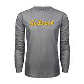 Grey Long Sleeve TShirt-Go Beach