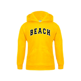 Youth Gold Fleece Hoodie-Arched Beach