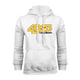 White Fleece Hoodie-49ers Long Beach