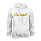 White Fleece Hoodie-Go Beach