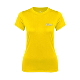 Ladies Syntrel Performance Gold Tee-The Beach