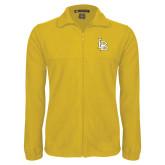 Fleece Full Zip Gold Jacket-Interlocking LB