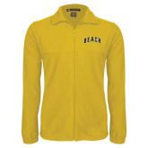 Fleece Full Zip Gold Jacket-Arched Beach