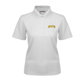 Ladies White Dry Mesh Polo-Arched Beach
