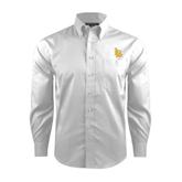 Red House White Dobby Long Sleeve Shirt-Interlocking LB