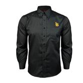 Red House Black Long Sleeve Shirt-Interlocking LB
