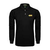 Black Long Sleeve Polo-49ers Long Beach