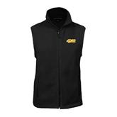 Fleece Full Zip Black Vest-49ers Long Beach