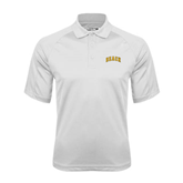 White Textured Saddle Shoulder Polo-Arched Beach