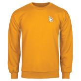 Gold Fleece Crew-Interlocking LB