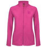 Ladies Fleece Full Zip Raspberry Jacket-Interlocking LB