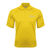 Gold Textured Saddle Shoulder Polo-The Beach