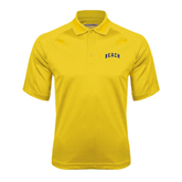 Gold Textured Saddle Shoulder Polo-Arched Beach