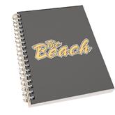 Clear 7 x 10 Spiral Journal Notebook-The Beach