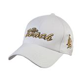 White Heavyweight Twill Pro Style Hat-The Beach