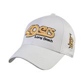 White Heavyweight Twill Pro Style Hat-49ers Long Beach