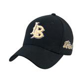 Black Heavyweight Twill Pro Style Hat-Interlocking LB