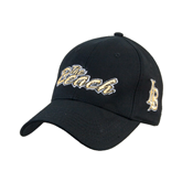 Black Heavyweight Twill Pro Style Hat-The Beach