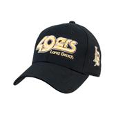 Black Heavyweight Twill Pro Style Hat-49ers Long Beach