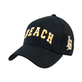 Black Heavyweight Twill Pro Style Hat-Arched Beach
