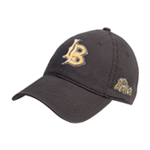 Charcoal Twill Unstructured Low Profile Hat-Interlocking LB