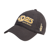 Charcoal Twill Unstructured Low Profile Hat-49ers Long Beach