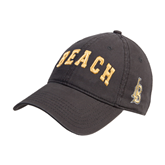Charcoal Twill Unstructured Low Profile Hat-Arched Beach