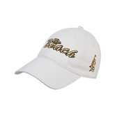 White Twill Unstructured Low Profile Hat-The Beach