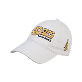 White Twill Unstructured Low Profile Hat-49ers Long Beach