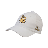 White OttoFlex Unstructured Low Profile Hat-Interlocking LB