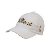 White OttoFlex Unstructured Low Profile Hat-The Beach