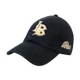 Black Twill Unstructured Low Profile Hat-Interlocking LB