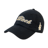 Black Twill Unstructured Low Profile Hat-The Beach