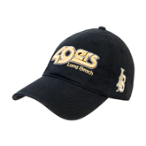 Black Twill Unstructured Low Profile Hat-49ers Long Beach