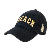 Black Twill Unstructured Low Profile Hat-Arched Beach